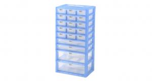紅螞蟻手提置物盒-九層 Accessories Box- 9 Layers Item NO. KD225 Size. W295xD200xH580mm *卡榫設計 抽屜不滑落,便於收藏物品 *隔板設計 空間使用更具靈活輕巧,可隨個人喜好放置不同的小物及零件