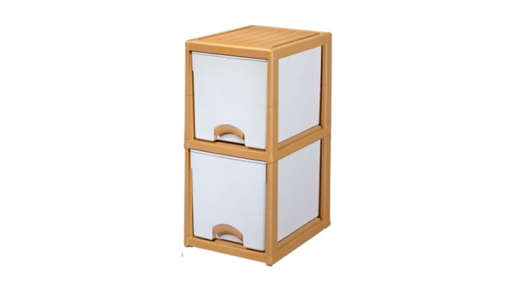 優品多層櫃-二層 Storage Cabinet-2 Drawers Item NO. LV320A (100L) Size. W380xD500Xh785mm Color. 柚木、白 *加厚設計 可當置物檯面使用