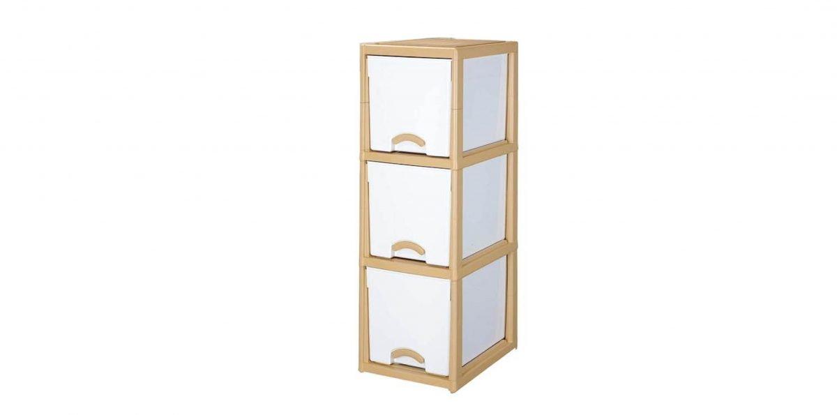 優品多層櫃-三層 Storage Cabinet-3 Drawers Item NO. LV330A (150L) Size. W380xD500xH1155mm Color. 柚木 *加厚設計 可當置物檯面使用