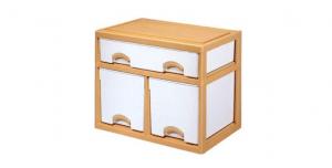 優品多層櫃-一橫二深抽 Storage Cabinet-3 Drawers Item NO. LV715B (150L) Size. W735xD500xH600mm Color. 柚木 *加厚設計 可當置物檯面使用