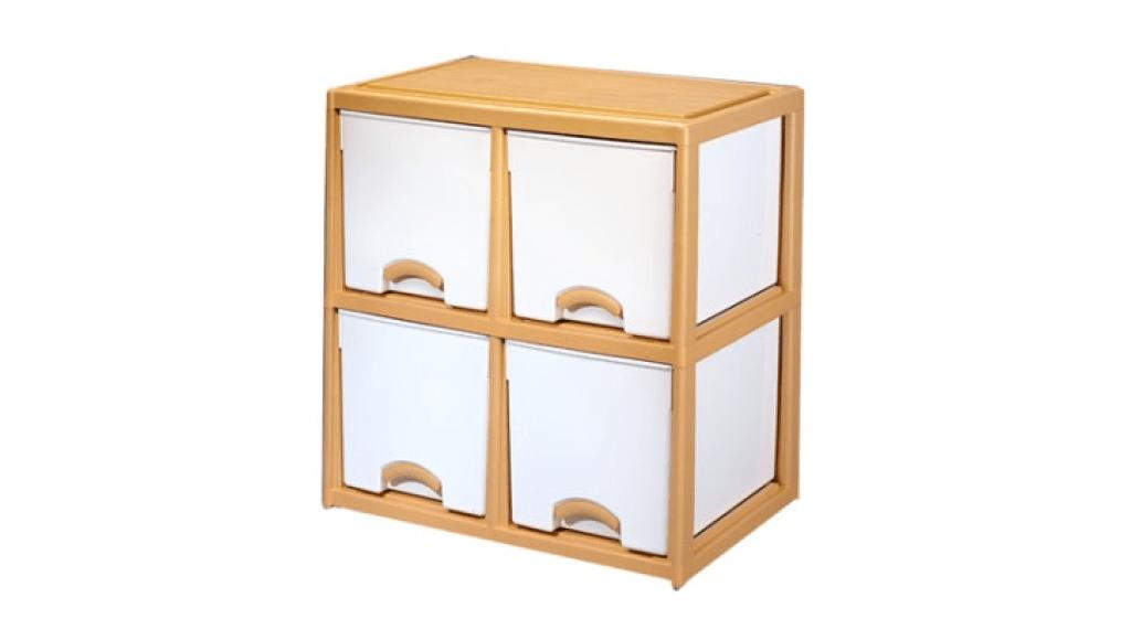 優品多層櫃-正四格 Storage Cabinet-4 Drawers Item NO. LV725 (200L) Size. W735xD500xH785mm Color. 柚木 *加厚設計 可當置物檯面使用