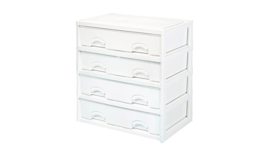 優品多層櫃-橫四格 Storage Cabinet-4 Drawers Item NO. LV745A (200L) Size. W735xD500xH785mm Color. 柚木、白 *加厚設計 可當置物檯面使用