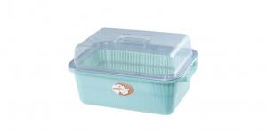 親親碗籃 Strainer Set with Cover Item No. 01007(L) Size. W445xD320xH240 mm(L) Color. 紅、藍、綠 *輕鬆洗滌最方便,衛生保存最安心 *廚房碗盤收納專用,透明蓋子一目了然