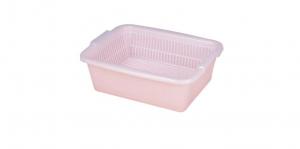 二合一濾網組 Drainer Set Item No. 01017 Size. W393xD305xH135 mm Color. 紅、藍 *各式筷匙餐具收納皆宜 *分離式設計,清洗方便