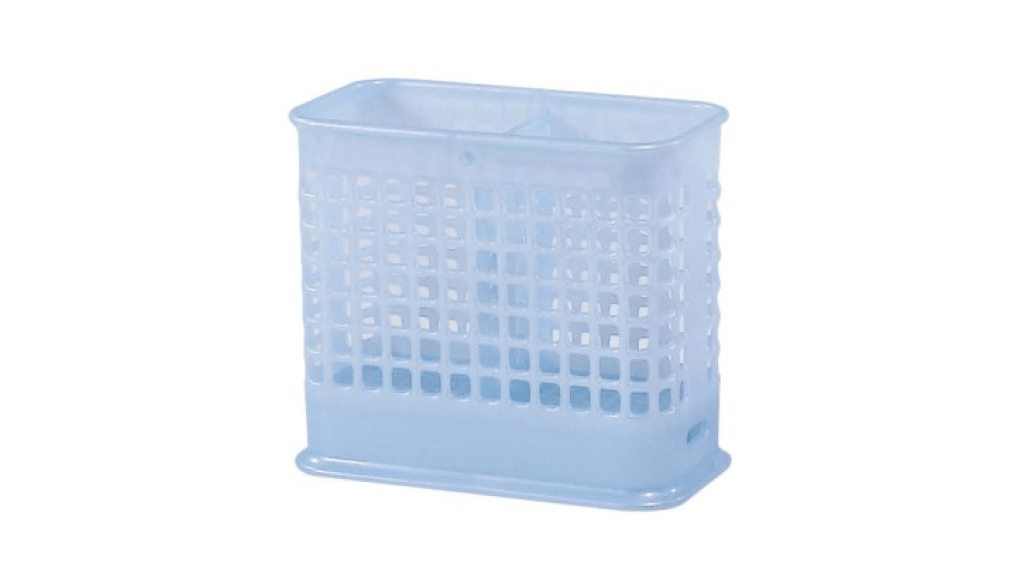 雙格筷籠 Chopstick Basket Item No. 01019 Size. W153xD77xH130 mm Color. 紅、藍、綠 *台灣製造,品質保證 *分兩格層,可收納筷子湯匙