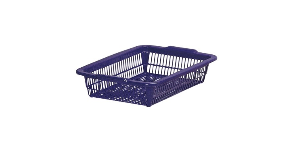 方型B5公文籃 Organizer Basket #1 Item NO. 01023 Size. W340xD260xH100mm Color. 橘、藍、綠 *100%台灣製造 *可收納文具小物