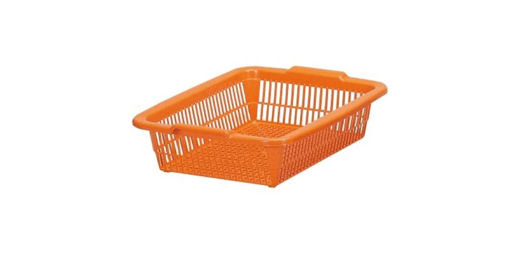 方型A4公文籃 Organizer Basket #2 Item NO. 01024 Size. W395xD307xH115mm Color. 橘、藍、綠 *100%台灣製造 *可收納文具小物