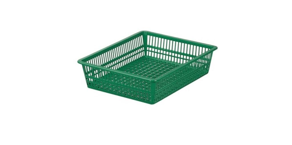 方型B4公文藍 Organizer Basket #4 Item NO. 01026 Size. W497xD355xH105mm Color. 橘、藍、綠 *100%台灣製造 *可收納文具小物