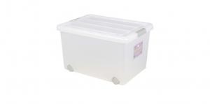 穌活整理箱(附輪)-50L Storage Box- with Roller Item NO. 03001-1(50L) Size. W550xD410xH340mm *附輪 底層附加活動輪,方便移動 *超大容量且內部平坦 可充分使用空間,放置物品零死角