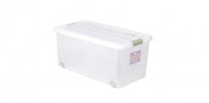 穌活整理箱(附輪)-70L Storage Box- with Roller Item NO. 03002-1(70L) Size. W740xD410xH340mm *附輪 底層附加活動輪,方便移動 *超大容量且內部平坦 可充分使用空間,放置物品零死角