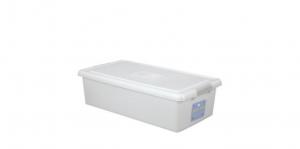 穌活整理箱(外引式防蟲盒) Storage Box- with Roller Item NO. 03004-1(46L) Size. W750xD400XH200mm *貼心設計 外引式防蟲盒,亦可做防潮盒使用 *超大容量且內部平坦 可充分使用空間,放置物品零死角