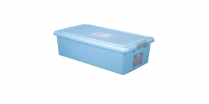穌活整理箱(附輪及外引式防蟲盒) Storage Box- with Roller Item NO. 03004(46L) Size. W750xD400XH200mm Color. 紅、藍 *貼心設計 外引式防蟲盒,亦可做防潮盒使用 *附輪 底層附加活動輪,方便移動