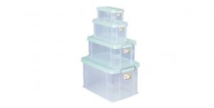 全家福收納整理箱(4合1) Container (4in1) Item NO. 03008 Size. S+M+L+XL Color. 紅、藍、綠 *堅固設計 加強結構,堅固又耐重 *貼心把手設計 順暢好扣不易鬆脫