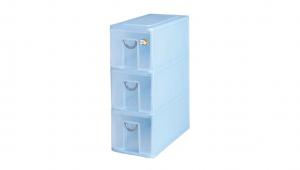 多媒體光碟收納盒-三層 CD Drawer Cabinet – 3 Drawers Item NO. 05003 Size. W187xD383XH500mm Color. 紅、藍、綠 *拉環設計 把手拉環設計,易拉好開 *可作為文具小物收納之用