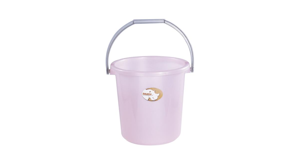 吉第水桶 Round Bucket Item No.08001(5L) Size. W250xD230xH205 mm(5L) Color. 紅、藍、綠 *貼心設計 把手設計手提好便利