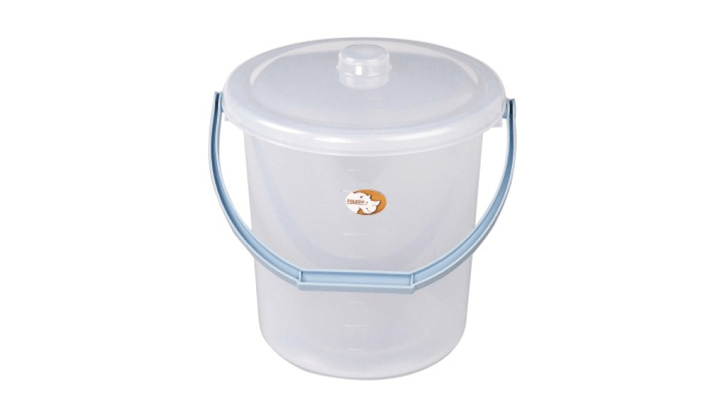 吉第水桶附蓋 Round Bucket -With Cover Item No. 08102(8L) Size. W290xD265xH262 mm(8L) *貼心設計 把手設計手提好便利