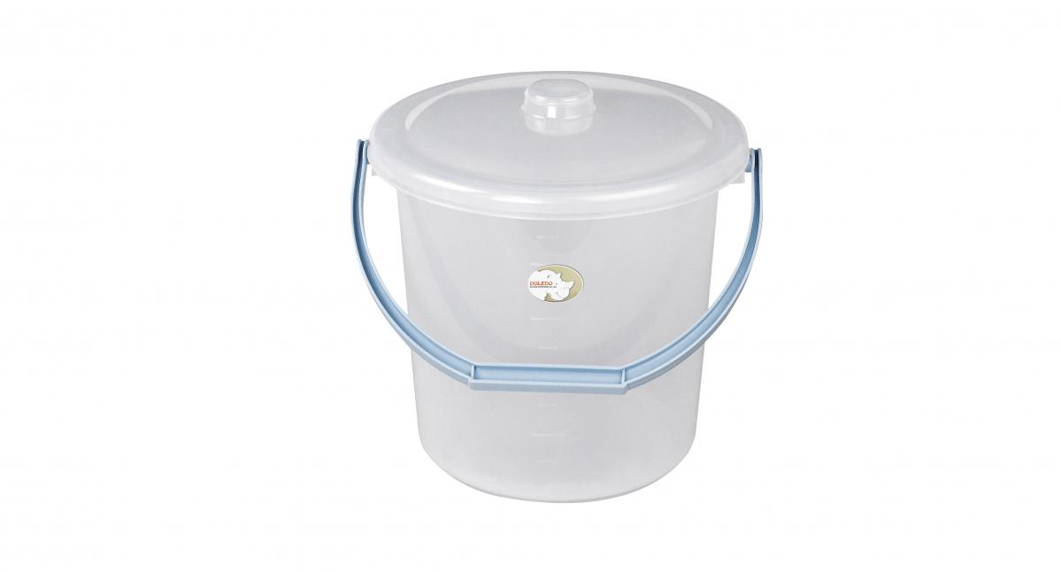 吉第水桶附蓋 Round Bucket -With Cover Item No.08103(10L) Size. W310xD280xH295 mm(10L) *貼心設計 把手設計手提好便利