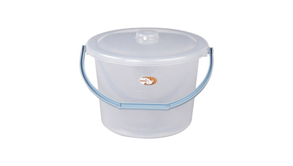 吉第水桶寬口附蓋 Round Bucket -With Cover- Wide Item No. 08107(7L) Size. W305xD285xH230 mm *貼心設計 把手設計手提好便利