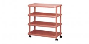 粉彩大四層置物架-附輪三雙入 Storage Rack with Wheels-4 Tiers Item No. 2131-4L Size. W710xD320xH815 mm Color. 紅、藍、綠 *附輪 底層附加活動輪,方便移動 *台灣製造,品質保證 *開放式設計,組裝拆卸都方便