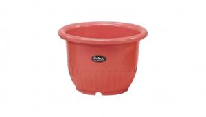 小太陽花盆丸型5號 Flower Pot NO.5 Item No. 9005 Size. Ø150xH105 mm Color. 紅、白、黃、綠 *鏡面彩盆,造型流利 *色澤新穎,多彩選擇
