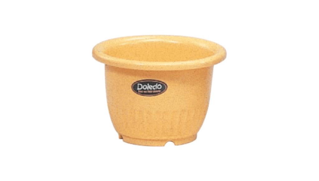 小太陽花盆丸型6號 Flower Pot NO.6 Item No. 9006 Size. Ø180xH125 mm Color. 紅、白、黃、綠 *鏡面彩盆,造型流利 *色澤新穎,多彩選擇