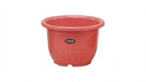 小太陽花盆丸型9號 Flower Pot NO.9 Item No. 9009 Size. Ø270xH190 mm Color. 紅、白、黃、綠 *鏡面彩盆,造型流利 *色澤新穎,多彩選擇