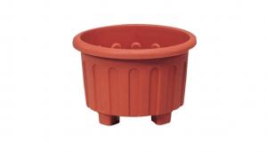 小太陽花盆丸型38號 Flower Pot NO.38 Item No. 9038 Size. Ø380xH260 mm Color. 咖 *特殊霧面處理,造型高雅大方 *高腳設計,透氣通風佳易生根