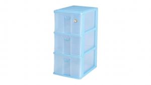 大物三層收納架 Storage Cabinet – 3 Drawers Item NO. 9833 Size. W255xD350xH530mm Color. 紅、藍、綠 *拉環設計 把手拉環設計,易拉好開 *可搭配作堆疊 *可收納檔案書籍