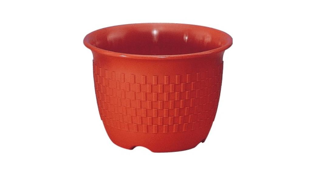 旺來花盆 Flower Pot Item No. 9841 Size. Ø183xH127 mm Color. 咖 *鏡面彩盆,造型吉利 *色澤新穎,搭配性高