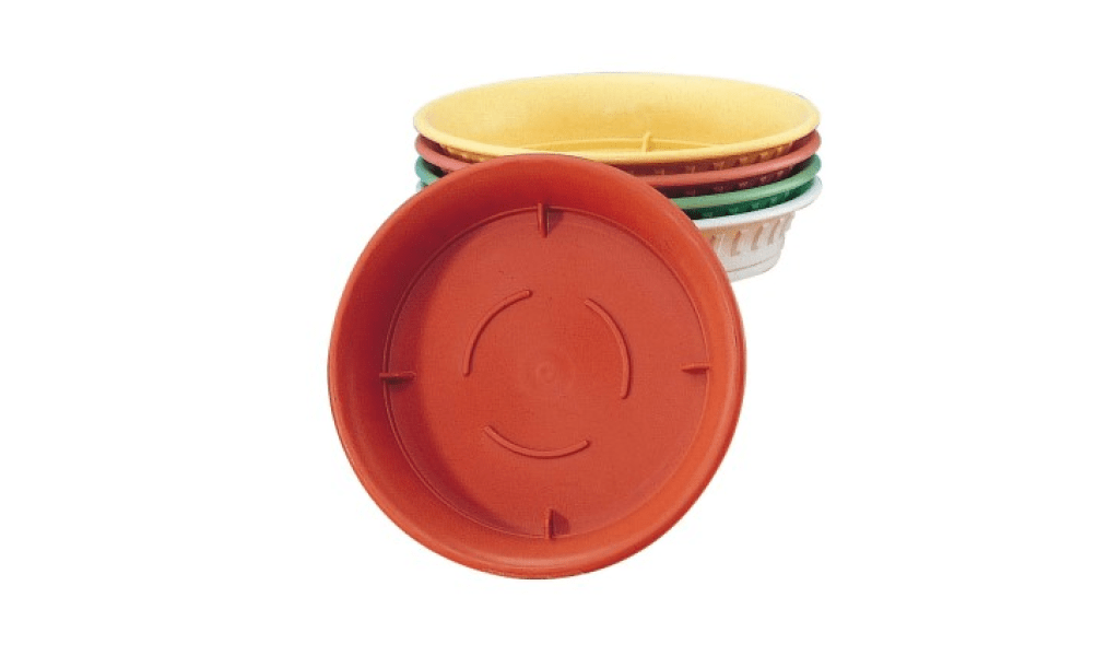 旺來底皿 Under Plate Item No. 9842 Size. Ø185xH35 mm Color. 咖、黃、紅、綠、白 *多種色系可供選擇,可與多款花盆做搭配