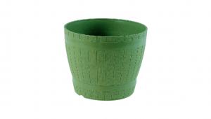 橡木桶花盆 Flower Pot Item No. 9851 Size. Ø175xH145 mm Color. 咖、紫、綠 *可與橡木桶底皿做搭配 *原木造型,外觀古樸拙實