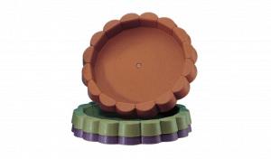 橡木桶底皿 Under Plate Item No. 9852 Size. Ø200xH23 mm Color. 咖、紫、綠 *多種色系可供選擇,可與橡木桶花盆做搭配