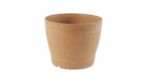 橡木桶花盆-8吋 Flower Pot Item No. 9881 Size. Ø235xH192 mm Color. 原木、綠 *原木造型,外觀古樸拙實