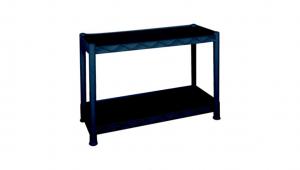 大白鯊二層置物重力架 Display Shelf Item No. 9909-2L Size. W865xD365xH580 mm Color. 黑 *台灣製造、品質保證 *開放式設計,組裝拆卸都方便
