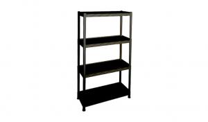 大白鯊四層置物重力架 Display Shelf Item No. 9909-4L Size. W865xD365xH1505 mm Color. 黑 *台灣製造,品質保證 *開放式設計,組裝拆卸都方便