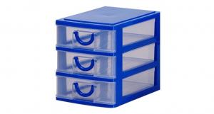 小桃子三層置物架 Mini Storage Cabinet-3 Drawers Item NO. AA03 Size. W135xD190xH160mm Color. 紅、藍、綠、黃 *拉環設計 把手拉環設計,好拉易開 *可作為文具小物收納之用 *透明抽屜,資料清晰可見