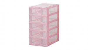 小可愛置物架-淺五層 Storage Cabinet-5 Shallow Item NO. AB05 Size. W160xD230xH307mm Color. 紅、藍、綠 *拉環設計 把手拉環設計,好拉易開 *可作為文具小物收納之用 *透明抽屜,資料清晰可見