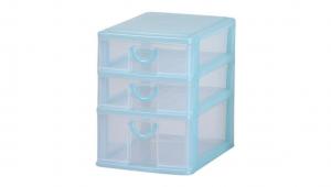 小可愛置物架-一大二小 Storage Cabinet-1 Deep ,2 Shallow Item NO. AB12 Size. W160xD230xH215mm Color. 紅、藍、綠 *拉環設計 把手拉環設計,好拉易開 *可作為文具小物收納之用 *透明抽屜,資料清晰可見