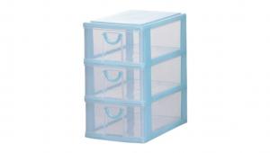 小可愛置物架-大三層 Storage Cabinet-3 Deep Item NO. AB30 Size. W160xD230xH273mm Color. 紅、藍、綠 *拉環設計 把手拉環設計,好拉易開 *可作為文具小物收納之用 *透明抽屜,資料清晰可見