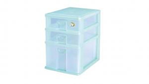 AD1+2公文盒 Storage Cabinet -1 Deep, 2 Shallow Item NO. AD12 Size. W255xD350xH370mm Color. 紅、藍、綠 *拉環設計 把手拉環設計,易拉好開 *可收納A4檔案、公文、文具小物
