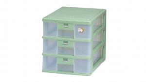 三層公文櫃 A4 Drawer Cabinet- 3 Drawers Item NO. AD203 Size. W255xD350xH282mm Color. 紅、藍、綠 *卡榫設計 抽屜不滑落,便於收藏資料 *可收納A4公文、文具等小物