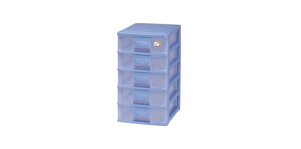 五層公文櫃 A4 Drawer Cabinet- 5 Drawers Item NO. AD405 Size. W255xD350xH458mm Color. 紅、藍、綠 *可作為文具小物收納之用 *透明抽屜,資料清晰可見