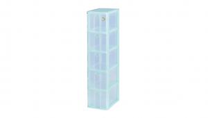 小物五層收納架 Storage Cabinet -5 Drawers Item NO. AD525 Size. W185xD265xH800mm Color. 紅、藍、綠 *拉環設計 把手拉環設計,易拉好開 *可作為文具小物收納之用 *透明抽屜,資料清晰可見