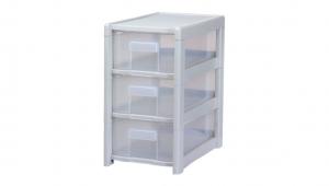 好幫手收納架-3層 Storage Cabinet -3 Drawers Item NO. AL03 Size. W240xD395xH425mm Color. 紅、藍、白 *附分類隔板,方便收納 *可收納文具、小物