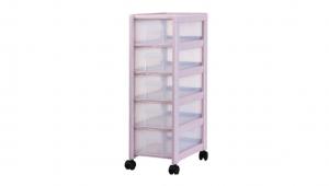 好幫手收納架-5層(附輪) Storage Cabinet -5 Drawers with wheels Item NO. AL05 Size. W240xD395xH735mm Color. 紅、藍、白 *附輪 底層附加活動輪,方便移動 *附分類隔板,方便收納 *可收納文具、小物