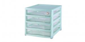 資訊家收納櫃-4層 B4 Drawer Cabinet -4 Drawers Item NO. B40 Size. W305xD405xH362mm Color. 紅、藍、綠 *卡合結構設計 可自由拆裝組合層數 *適合書房、辦公室桌上收納 *可收納B4尺寸的文件或小物品