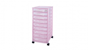 資訊家收納櫃-9層(附輪) B4 Drawer Cabinet- 9 Drawers with Wheels Item NO. B90 Size. W322xD405xH707mm Color. 紅、藍、綠 *卡合結構設計 可自由拆裝組合層數 *附輪 底層附加活動輪,方便移動