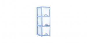 優品多層櫃-正三格 Storage Cabinet- 3Drawers Item NO. BNW330A (150L) Size. W380xD500xH1155mm Color. 紅、藍 *加厚設計 可當置物檯面使用