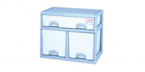 優品多層櫃-一橫二深抽 Storage Cabinet- 3Drawers Item NO. BNW715B (150L) Size. W735xD500xH600mm Color. 紅、藍 *加厚設計 可當置物檯面使用