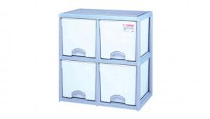 優品多層櫃-正四格 Storage Cabinet- 4Drawers Item NO. BNW725 (200L) Size. W735xD500xH785mm Color. 紅、藍 *加厚設計 可當置物檯面使用